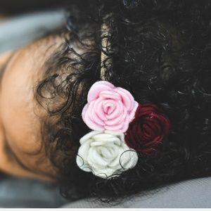 Pink and White Floral Headband with Nylon band